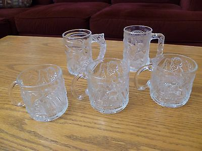 1995 McDonald's DC Comics Batman Forever Lot of 5 Glass Mugs EUC