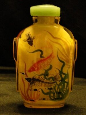 Antique 1896 Chinese Inside Painted Glass Snuff Bottle
