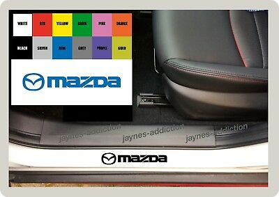 For MAZDA - 4 x DOOR SILL - VINYL CAR DECAL STICKER ADHESIVE - 150mm long