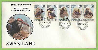 Swaziland 1984 Wildlife Conservation, Birds set on First Day Cover