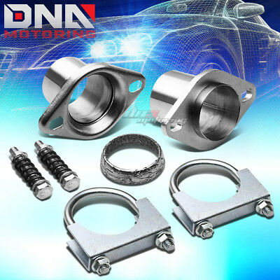"""2.5""""stainless Steel Header/exhaust Pipe Collector Ball/donut Joint Flange+Clamp"""