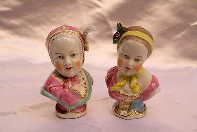 Magnificent 19C German Pair Of Meissen Porcelain Hand Painted Figurines