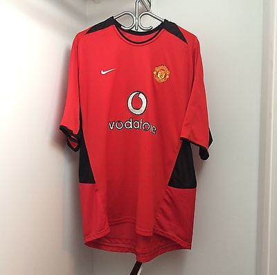 Nike Manchester United 2002/04 Home Jersey XL Short Sleeve SS