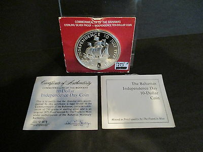 1973 The Bahamas Independence Day 10 Dollar Coin