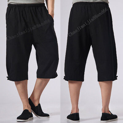 Summer Cotton Kung Fu Martial Arts Bruce Lee Wingchun Casual Short Pants Men New