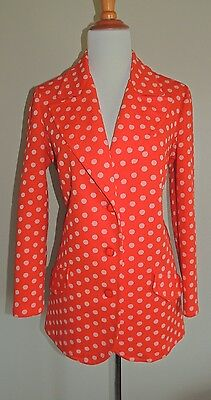Vintage Women's Puritan Red Polka Dot Poly Blend 2 Piece Pants Suit
