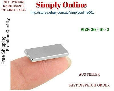 5/10/20/50/100 Super Strong Block Fridge Magnets Rare Earth Neodymium 20x10x2mm