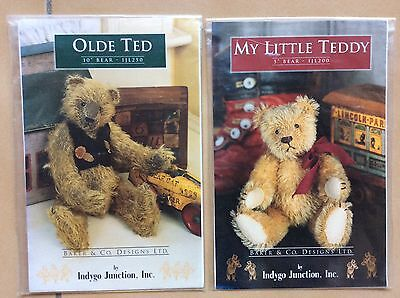 "Bear Patterns X 2. ""my Little Teddy""  5"" &   ""olde Ted""  10"""
