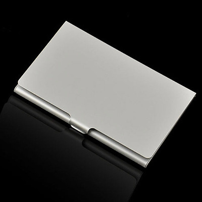 Stainless Silver Metal Credit ID Card Case Waterproof Namecard Clip Business