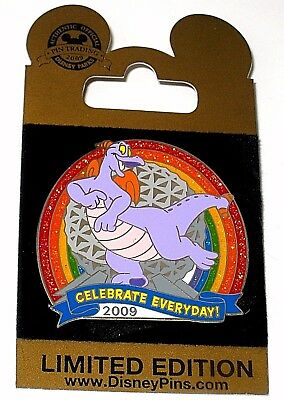 LE Disney Pin✿Figment Celebrate Everyday Rainbow Imagine Imagination Spaceship