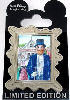 RARE LE300 WDI Disney Pin✿Figment American Gothic Art Framed Classic Dreamfinder