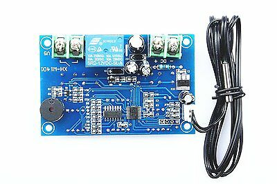 XINY Digital Thermostat DC 12V -9 to 99℃ Temperature Controller Board Temp 10A