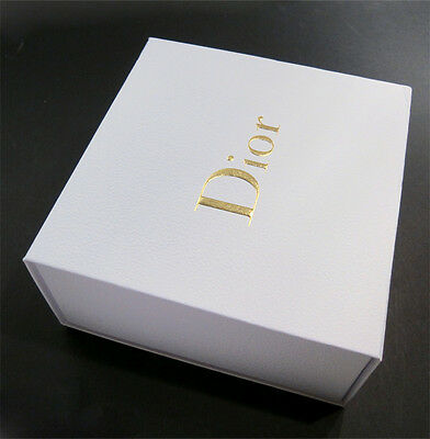"Christian Dior White Large Empty Gift Box Square/Storage Container 8.5""x8.5""x4"""