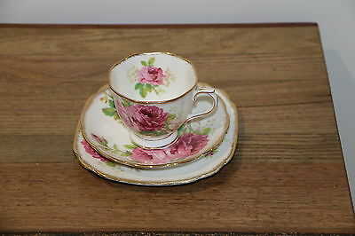 "Royal Albert ""American Beauty"" Fine Bone China Trio"