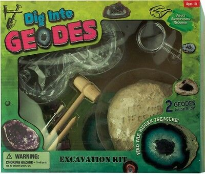 Johnco Productions Dig Into Geodes Excavation Kit