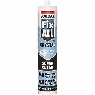 SOUDAL FixAll Crystal Clear Bonding Sealing for All Materials Surfaces 290ml