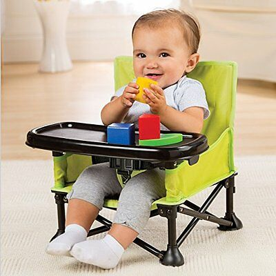 Booster Portable Seat Chair Baby Infant Feeding Folding Travel Tray Pop N Sit