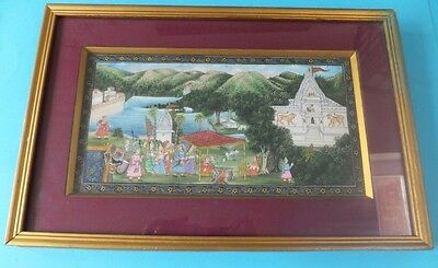 Vintage Oriental Picture Painting Framed Chinese Japanese Rare