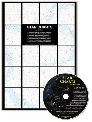 New Star Charts whole of sky stars to Mag 6.5 nebula galaxies - water resistant
