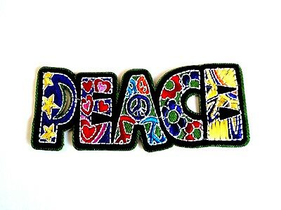 1x Peace Hippie Retro Patch Embroider Cloth Patches Applique Badge Iron Sew On