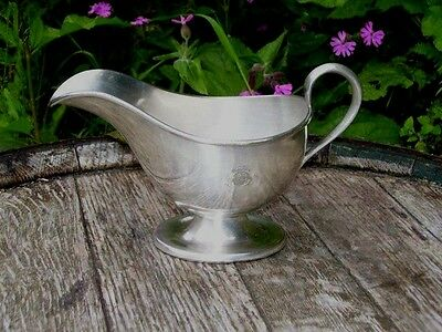 Antique 1884-1905 Mappin Webb Silver Plated London Playgoers Club Gravy Boat