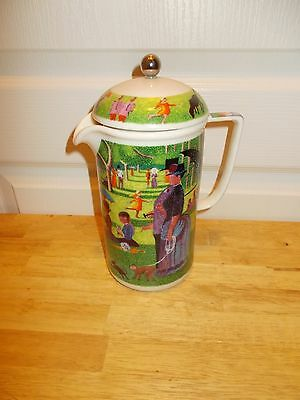 Ceramic French Press Beverage Infuser w/GEORGES SEURAT Painting 1993 CHALEUR