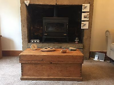 Antique Pine Chest, coffee table, trunk, antique tool box
