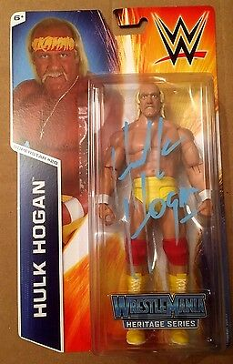 WWE Mattel Hulk Hogan Signed WrestleMania Heritage Series Action Figure