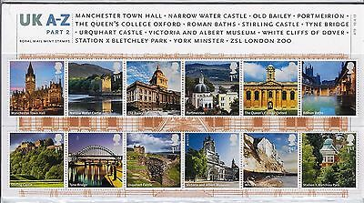 2012 UK Landmarks A-Z Part 2 Stamps in Presentation Pack 470 14 x 1st Class
