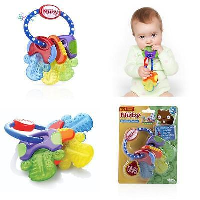 Hard & Soft Teething Keys For Baby Toddler Ring Toy Fun Teether Soother BPA Free