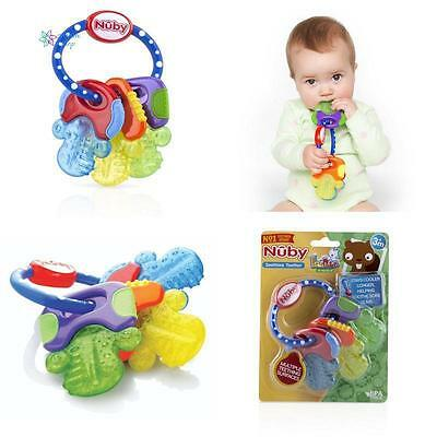 Nuby Icybite Hard Soft Teething Keys Baby Toddler Ring Toy Fun Teether Soother