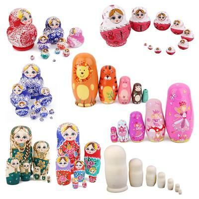 Hand Painted Traditional Wooden Nesting Doll Russian Dolls Stacking Matryoshka
