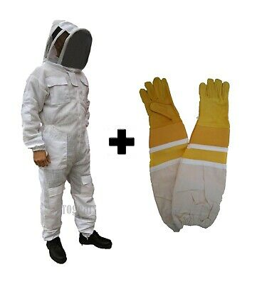 Beekeeping Bee Suit Ventilated Ultra Breathable 3 Layer Mesh Bundle - Large