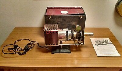 Antique 1910 Great National No 1 Stereopticon Movie Projector Photography Piece