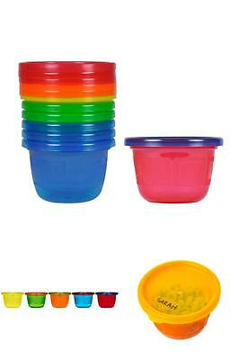 The First Years Take & Toss Baby Toddler No Spill Snack Bowl Cup 4.5 Oz 6 Pack