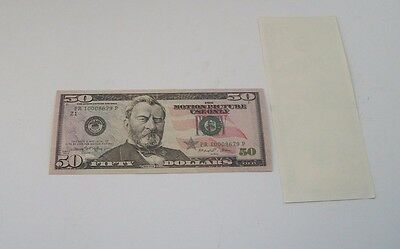 (1x) $50 Bill Prop Money Closest thing to Real! High Quality! Not Legal tender!