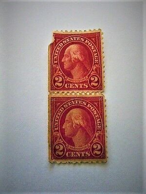 Early 1900S United States Postage 2 Cent Stamps Washington
