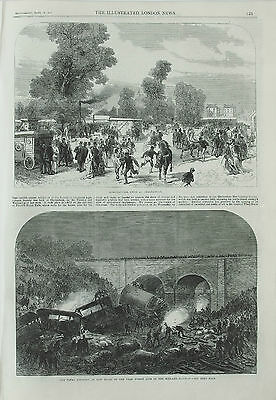 Accident at New Mills Midland Railway & Farming Show Cheltenham – Print 1867