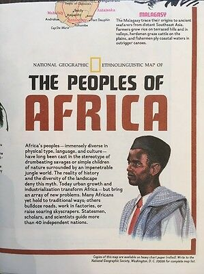 National Geographic MAP PEOPLES of AFRICA December 1971 - Ethnolinguistic Map