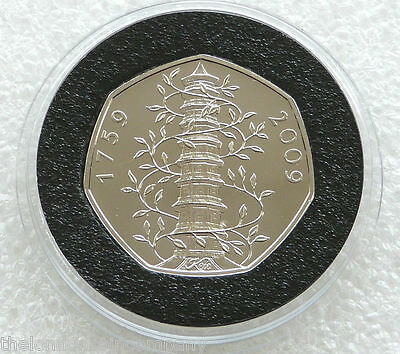 2009 Royal Mint Kew Gardens Pagoda 50p Fifty Pence Coin Uncirculated
