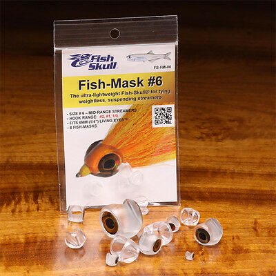 FISH SKULL FISH-MASK - All Sizes - Flymen Clear Streamer Heads Fly Tying NEW!