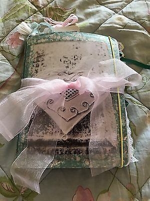 Floral Themed Junk Journal, Notebook, Scrapbook. Vintage Lace & Ribbons