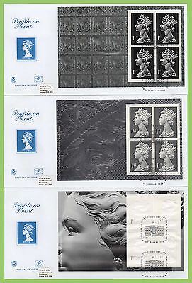 G.B. 1999 Profile on Print booklet panes on Stuart First Day Covers