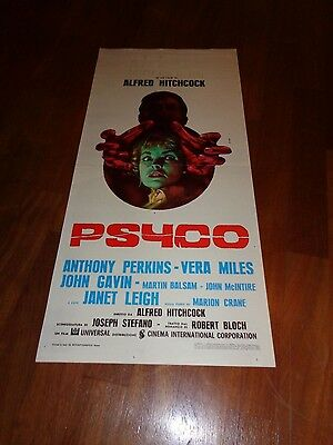 LOCANDINA,Psyco (Psycho) Janet Leigh, Anthony Perkins,Alfred Hitchcock Miles.