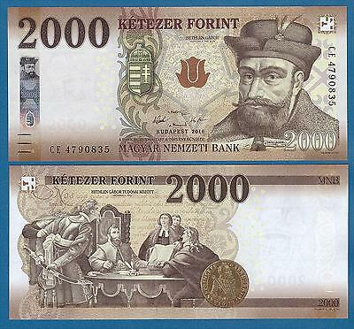 Hungary 2000 Forint P New 2016 (2017) UNC Low Shipping! Combine FREE!
