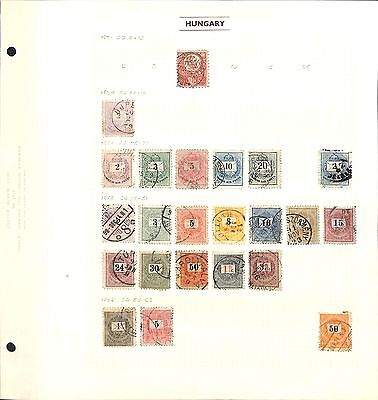 HUNGARY Stamp Collection - 1871-1946 - 11 pages Mint and Used (All stamps shown)
