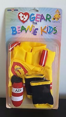 New Ty Gear Beanie Kids Firefighter - 2 Available