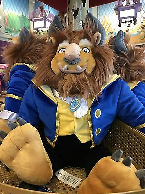 """NEW Disney Parks Authentic BEAST Large Plush Toy 23"""" Doll from Beauty and Beast"""