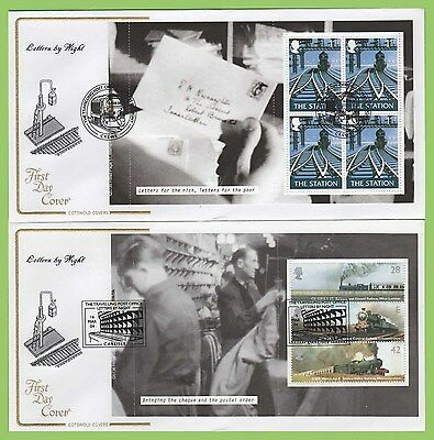 G.B. 2004 Letters by Night booklet panes on Cotswold First Day Covers