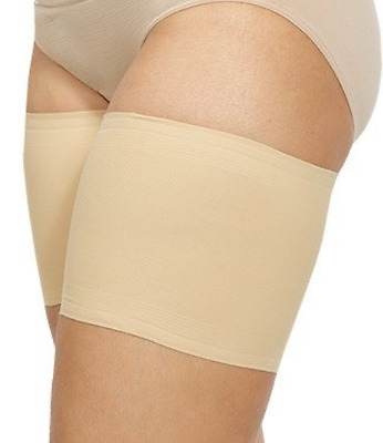 Bandelettes Elastic Anti-Chafing Thigh Bands - Prevent Thigh Chafing - Beige F
